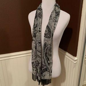 Paisley-like printed scarf